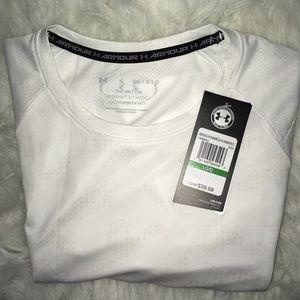 Under Armour Shirts - Under Armour Cream Lite short sleeve shirt sz LG